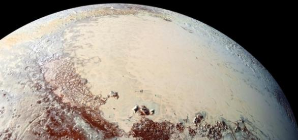 Sputnik Planitia, fotografada pela sonda New Horizons. Foto: NASA/Johns Hopkins University/Southwest Research Institute