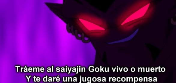 Un malvado ser oscuro desea ver muerto a goku