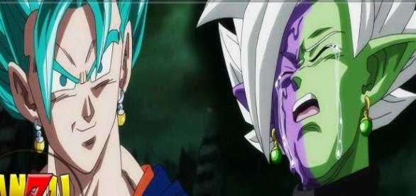 Vegetto vs Zamasu DBS episodio 66 amzu361