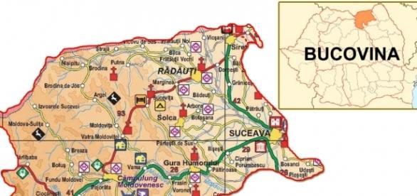 Bucovina, Romania - este doar o parte a Bucovinei istrice