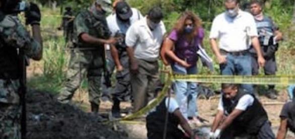 Corpos de cabeças foram encontrados em valas clandestinas no México.