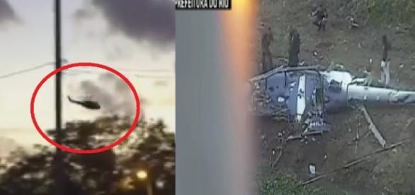 Helicóptero cai no Rio de Janeiro