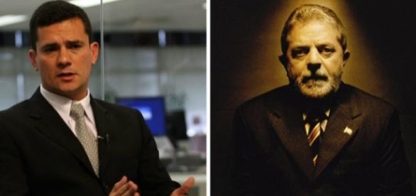 Juiz federal Sérgio Moro e o ex-presidente Lula