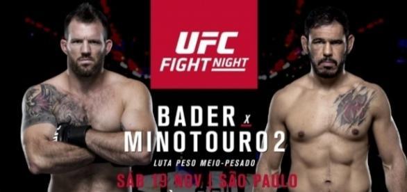 Postêr do UFC Bader x Minotouro 2