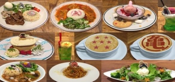 Comidas disponibles en restaurante japones