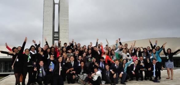 Estudantes de todo o Brasil vivenciando estágio na Câmara Federal (DF- Brasília)