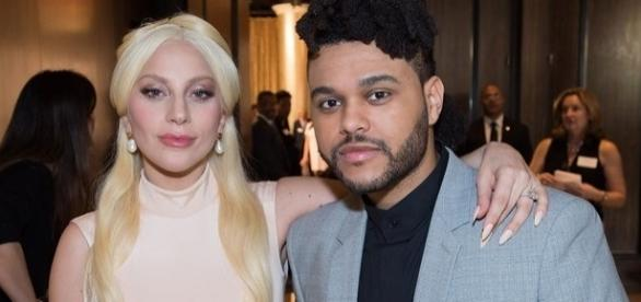 Lady gaga e Abel Makkonen (The Weeknd)