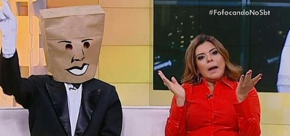 Mara Maravilha e Homem do Saco, apresentadores do Fofocando - Reprodução/Internet.