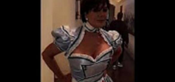 Source: Youtube Paparazzi News Kris Jenner is a saucy version of Alice In Wonderland for Halloween