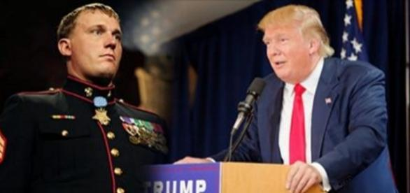 Trump bragged about his bravery while honoring Medal of Honor recipients. Source: Google Advanced Images