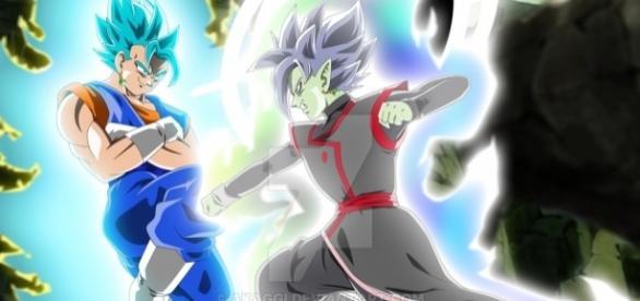 Zamasu fusion vs Vegetto dbsuper