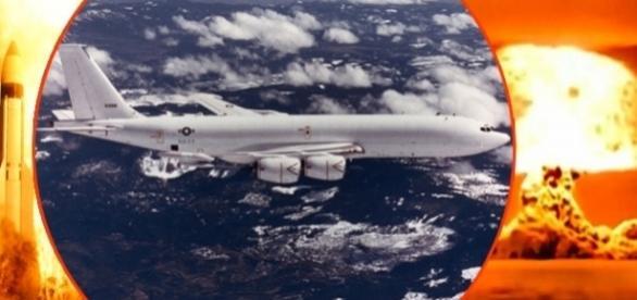 """Avionul cunoscut sub numele de """"Judecata de apoi"""" lansat în caz de atac nuclear a fost reperat pe cer în SUA"""