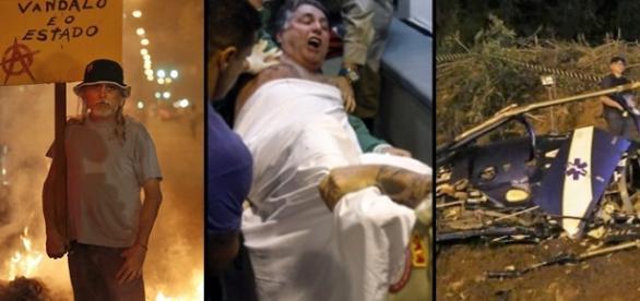 Protestos, prisão de ex-governadores e queda de helicóptero movimentaram a semana, no Rio de Janeiro