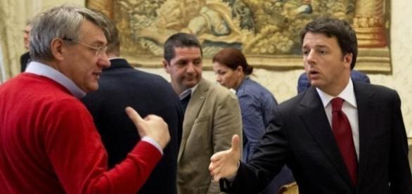 Renzi e Landini si scontrano a In mezz'ora sul referendum