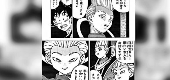 Wiss le revela a Goku que es un angel.