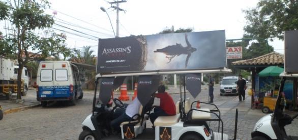 Divulgação do filme Assassin´s Creed, inspirado em game