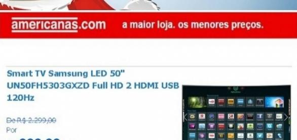 Falso e-mail da Lojas Americanas oferece TV de 50 polegadas por R$ 999 - globo.com