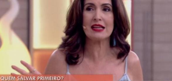 Fátima Bernades é atacada na internet.