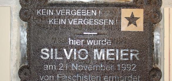 Gedenktafel für Silvio Meier in Berlin