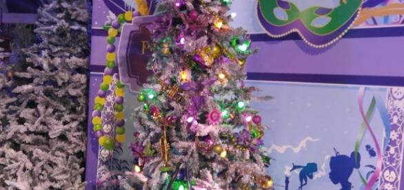 Princess Tiana's tree covers Christmas and Mardi Gras. (Photo by Barb Nefer)