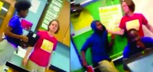 Professora branca agride verbalmente aluno negro