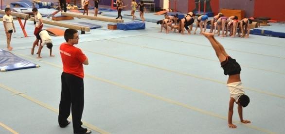 A equipe de ginástica artística trouxe importantes resultados para o COTP (Foto: Stephanie Frasson)