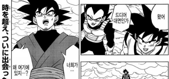 Black en el final del manga numero 18