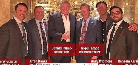 Donald Trump, Nigel Farage et ses potes de l'Ukip, à la Trump Tower