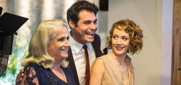 Magnólia, Ciro e Vitória em 'A Lei do Amor' (Divulgação/Globo)