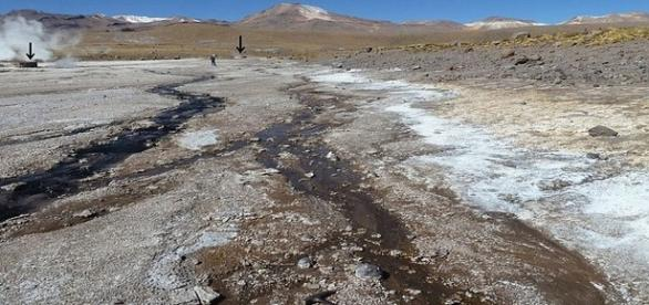 Sílica de El Tatio, no deserto do Atacama, apresenta as mesmas características da encontrada em Marte (Steven Ruff)