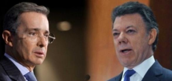 Alvaro Uribe e Juan Manuel Santos