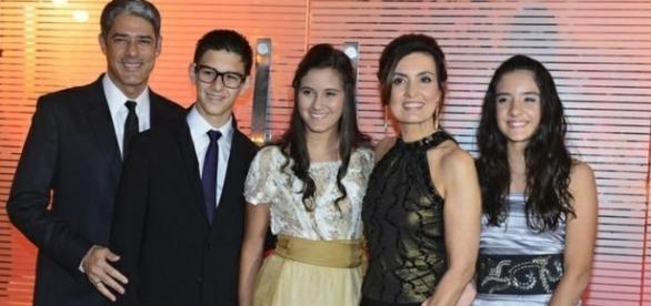 Fátima Bernardes tem três filhos