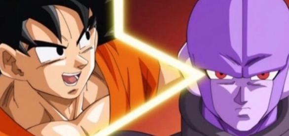 Goku versus Hit en el torneo. DBS