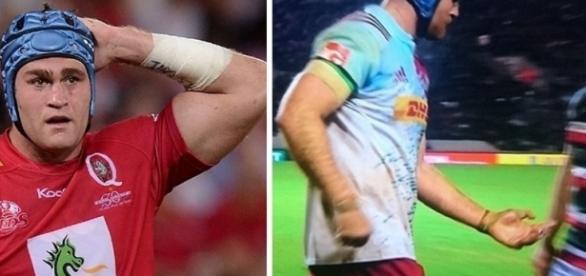 James Horwill quebra o seu dedo ao meio durante a partida de rúgbi