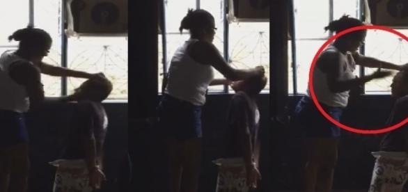 Mãe dá uma lição de moral em seu filho