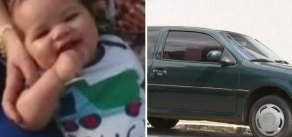 Bebê de cinco meses foi deixado no carro