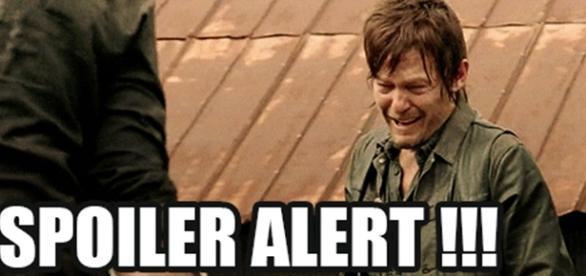 Daryl em apuros na série The Walking Dead