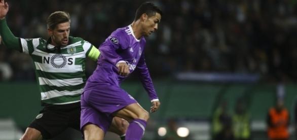 Jogo entre o Sporting e Real Madrid