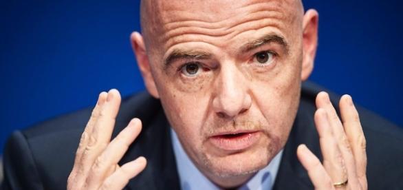 Presidente da Fifa, Gianni Infantino solicita alteração da sua agenda, para poder viajar ao Brasil.