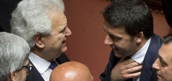 Amnistia e indulto, ultime novità: nuova mozione di Ala, cosa prevede - nella foto Verdini e Renzi stefanofassina.it