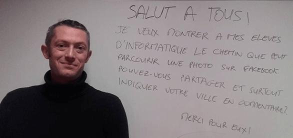 Cédric Barde bat des records sur Facebook avec une toute simple photo et un court message