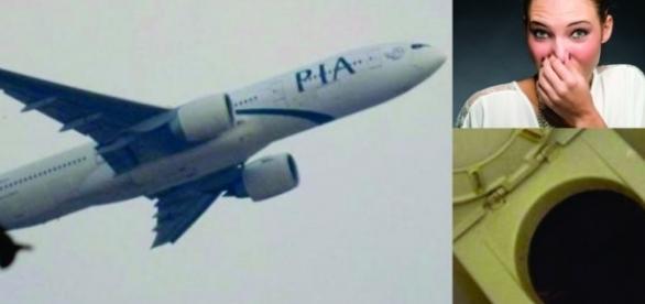 Um passageiro entupiu um banheiro da aeronave