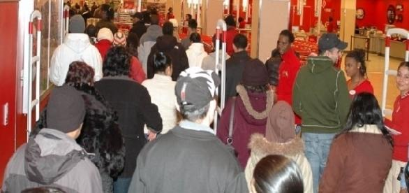 Black Friday shopping at a Target store (Credit: Gridprop - wikimedia.org)