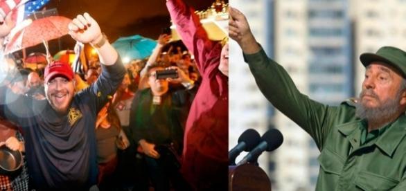 Dissidentes cubanos festejam a morte de Fidel Castro, em Miame