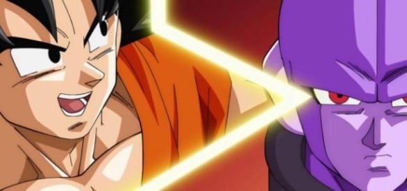 Goku con Hit, personaje del sexto Universo