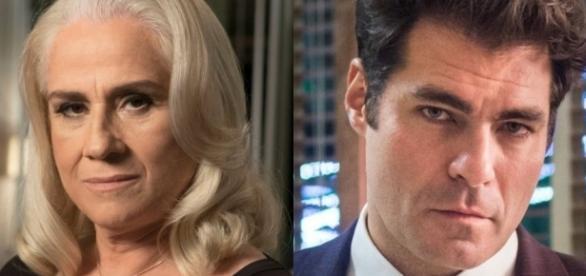 """Magnólia e Ciro na novela """"A Lei do Amor"""" são amantes há muitos anos e ninguém desconfia"""