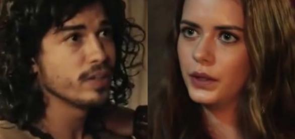 Rune e Livana em 'A Terra Prometida' (Divulgação/Record)