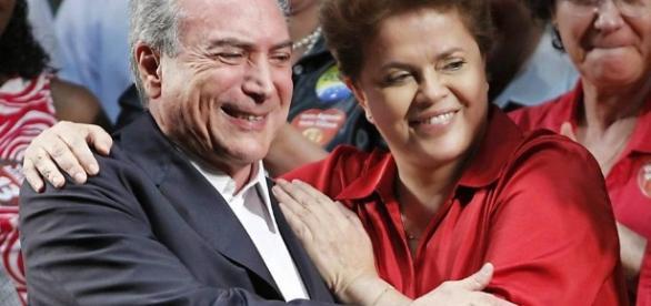 Temer e Dilma em campanhas eleitorais