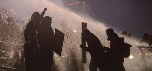 Water Cannons Used Against Dakota Pipeline Protesters - The Atlantic - theatlantic.com