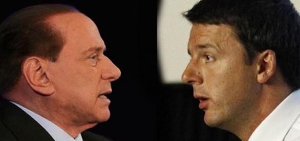 Silvio Berlusconi e Matteo Renzi